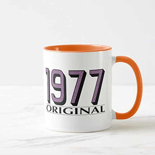 Zazzle 1977 Original Coffee Mug Orange Combo Mug 11 oz