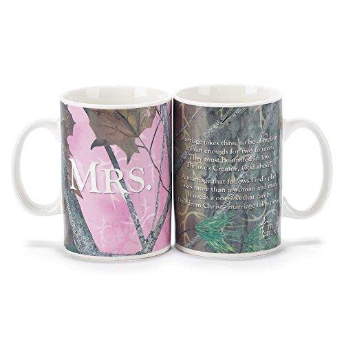 Camo Pink Mr and Mrs Truth Hunter 18 Oz Ceramic Coffee Mug Set of 2