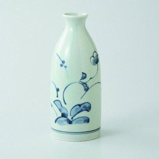 Japanese porcelain Hasami ware Set of 2 kozome kusabana tokkuri sake bottles hsm-J03-66455