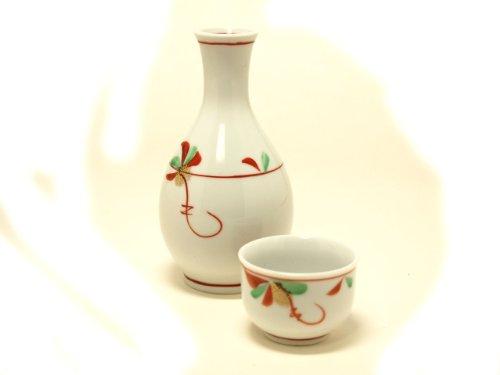 KYOTO-SMALL-FLOWER Jiki Japanese Porcelain SAKE Set