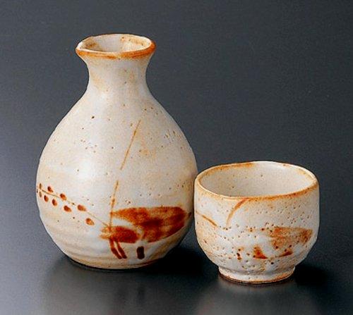 MIZUKUSA-WATERWEED Jiki Japanese Porcelain SAKE Set