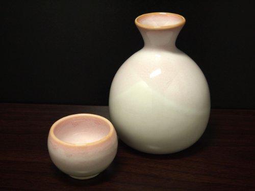 SAKURA-NAGASHI Jiki Japanese Porcelain SAKE Set