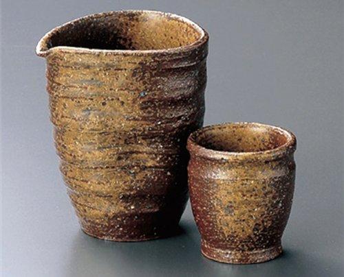 BIZEN Tohki Japanese Pottery SAKE Set 35inches Set of 5 SAKE Sets Japanese original Porcelain