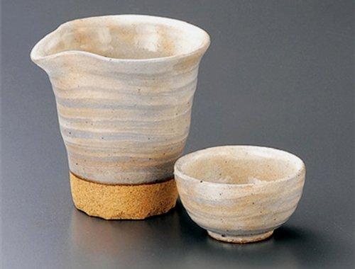KOBIKI-KATAKUCHI Tohki Japanese Pottery SAKE Set 39inches Set of 2 SAKE Sets Japanese original Porcelain
