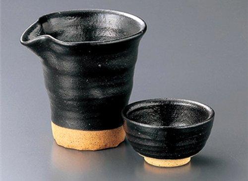 KUROHADA-KATAKUCHI Tohki Japanese Pottery SAKE Set
