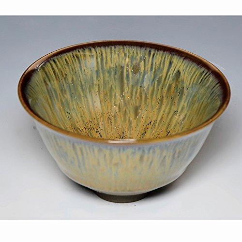 Kiyomizu-kyo yaki ware Japanese tenmoku Sake guinomi cup kourou with wooden box Ceramic kymz-toua84904