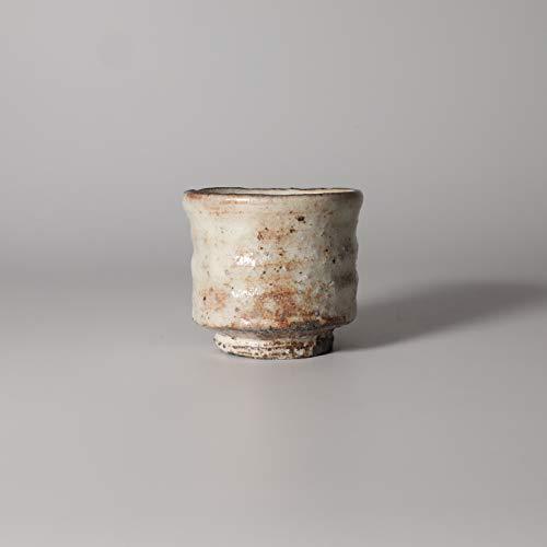 Kohiki guinomi sake cup made by Keita Yamato with wooden box Japanese pottery Hagi yaki