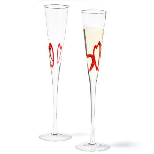 Leonardo Heart Champagne Glass Sekt Glass Prosecco Glass Set of 2 70380