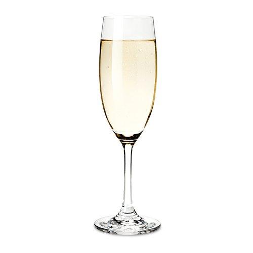 True Cuvee Champagne Flutes Set of 4 Clear Rosé Prosecco glasses