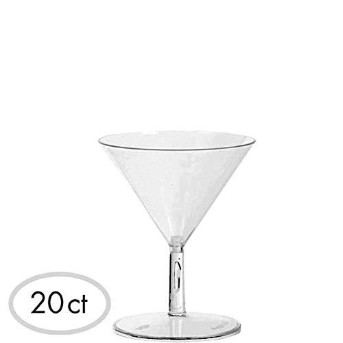ELEGANI Tableware an Serveware Mini Clear Plastic Martini Glasses 20ct