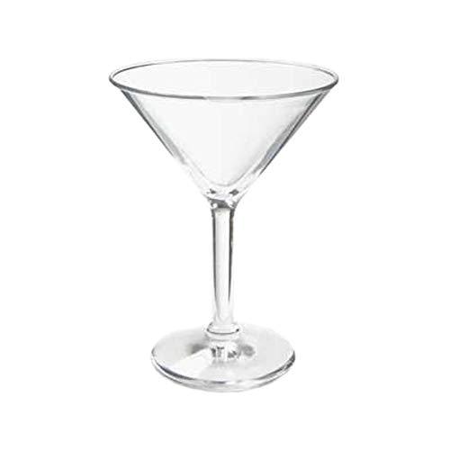 GET SW-1407-1-SAN-CL Plastic Martini Glasses 10 Oz Case of 2 Dozen