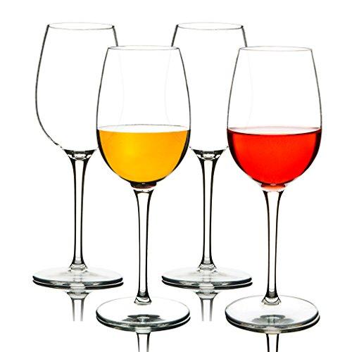 MICHLEY Unbreakable Wine Glasses 100 Tritan Plastic Shatterproof Wine Goblets BPA-free Dishwasher-safe 125 oz Set of 4