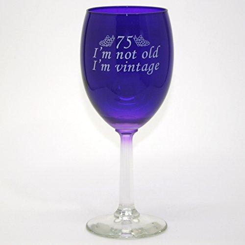 75 Im Vintage Wine Glass