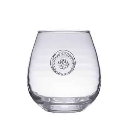 New Juliska Berry Thread Glassware Stemless Red Wine Glass 18oz B718c