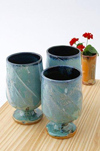 One Wheel Thrown Aqua Green Wine Glass Batch 06 Ceramic Wine Glasses Ceramic Wine Chalices Handmade Wine Goblets