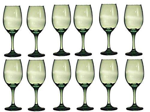 Translucent Green Wine Glasses Set of 12-translucent Green