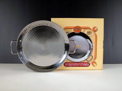 Paella Pan Stainless Steel 32 cm