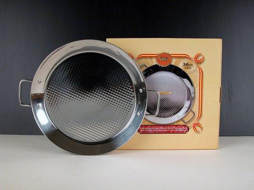 Paella Pan Stainless Steel 36 cm