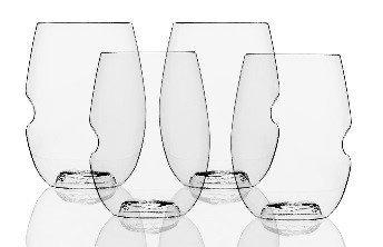 Govino Wine Glass Flexible Shatterproof Recyclable Set of 4
