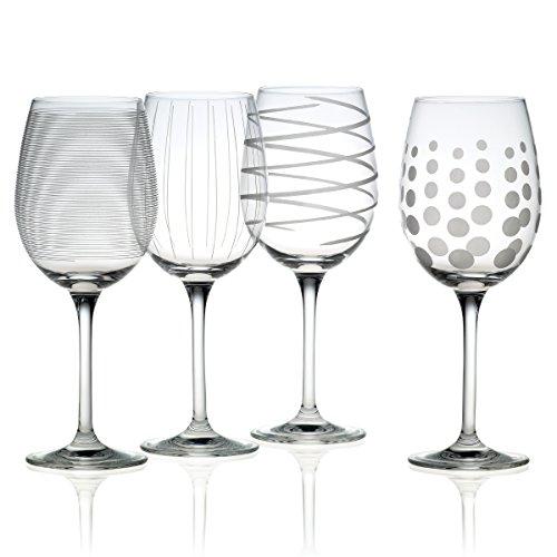 Mikasa Cheers Precision-Etched 16-oz White Wine Glasses Set of 4