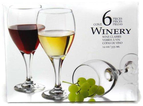 Winery 12 oz Wine glasses Set of 6