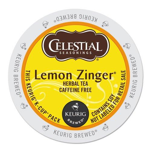 Celestial Seasonings Lemon Zinger Herbal Tea K-Cup Portion Pack for Keurig K-Cup Brewers 24-Count