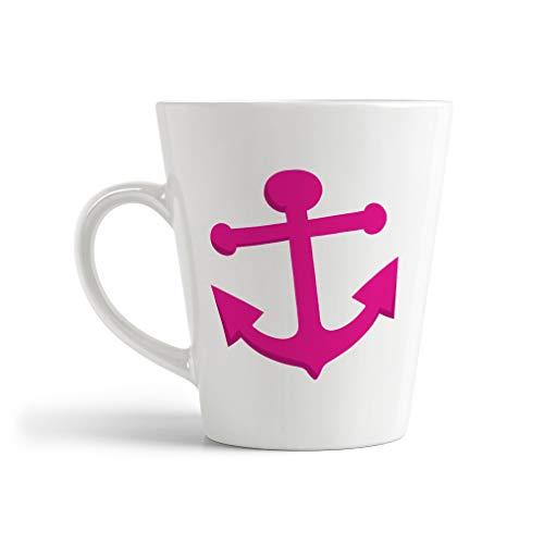 Ceramic Custom Latte Coffee Mug Cup Anchor Hot Pink Tea Cup 12 Oz Design Only