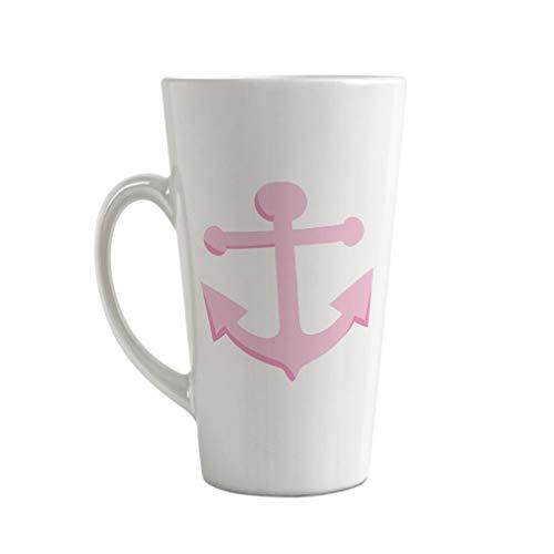 Ceramic Custom Latte Coffee Mug Cup Anchor Light Pink Tea Cup 17 Oz Design Only