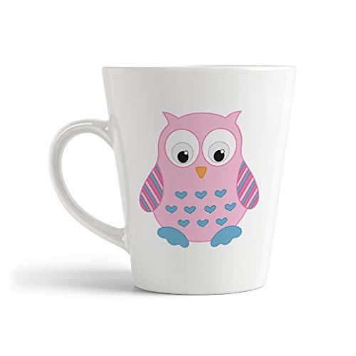 Ceramic Custom Latte Coffee Mug Cup Owl Toy Light Pink Tea Cup 12 Oz Design Only