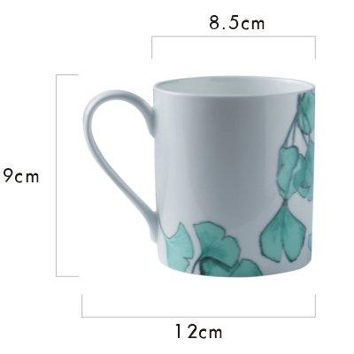BXSBH-Mark Ceramic Bone China Cups Coffee Cups Milk Breakfast Tea Cup Household Living Room A