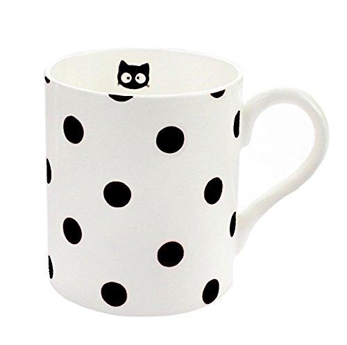 Ceramics Cat Dot Retro Coffee Mug Breakfast Tea Cup