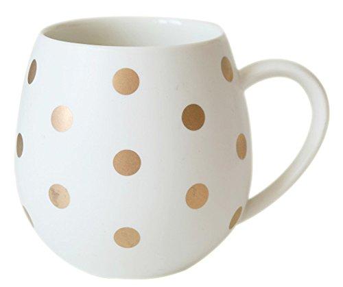 Ceramics Retro Dot Coffee Mug Breakfast Tea Cup