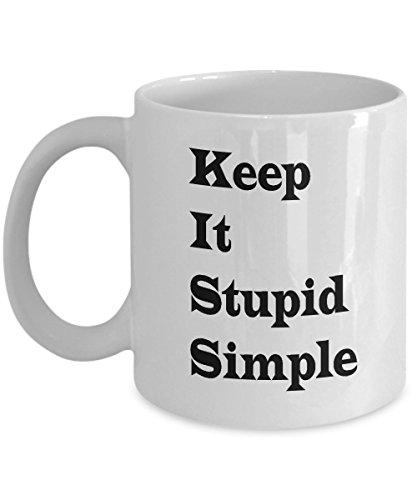 Matrix Mug With Quotes - Unique - Novelty - White Ceramic Coffee Mug - Office Breakfast Tea Cup Gift - 11 oz - White - Keep It Stupid Simple - Best Advisor - Education - Inspirational - Motivational