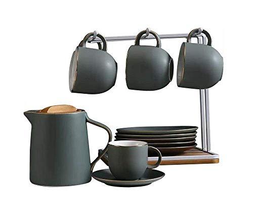 Luckya Coffee Cup Ceramic Heat-Resistant Living Room Simple Tea Cup European Water Set