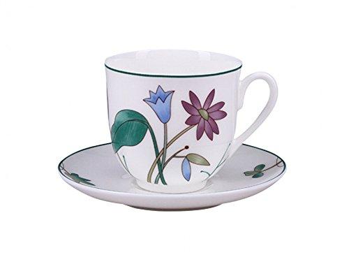 Imperial  Lomonosov Porcelain Meadow Flowers Teacup with Saucer