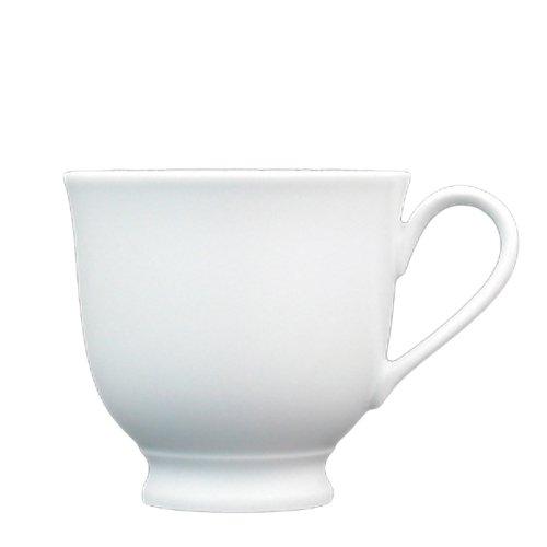 Fortessa Fortaluxe Superwhite Vitrified China Dinnerware Cassia 7-Ounce Pedestal CoffeeTea Cup Set of 6