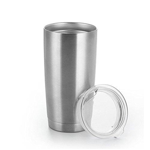 Cozytek Tumbler CupStainless Steel Beer Tumbler 20OzDouble Wall Vacuum Insulated CupCoffee FlaskDrinking Glass With Slide LidBPA Free DrinkwareKeep Cold Or Hot Drinks For HoursStainless Steel