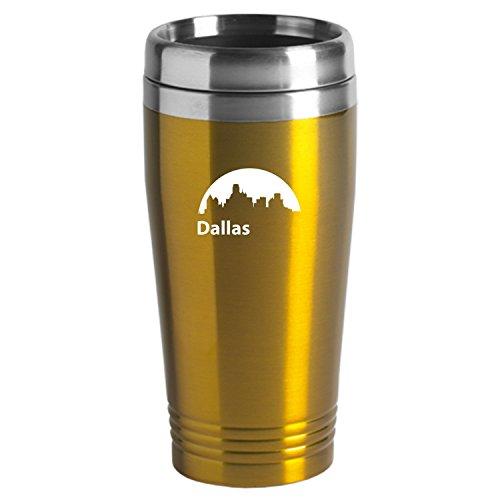 Dallas Texas-Travel Mug Tumbler-Gold