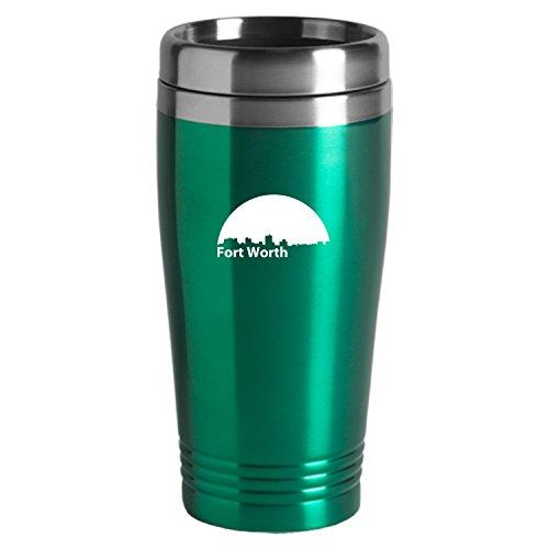 Fortworth Texas-Travel Mug Tumbler-Green