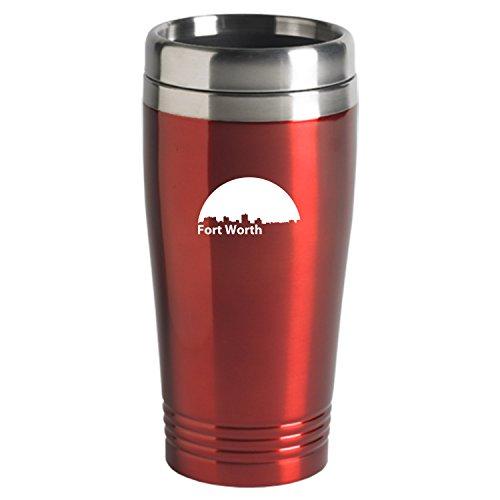 Fortworth Texas-Travel Mug Tumbler-Red