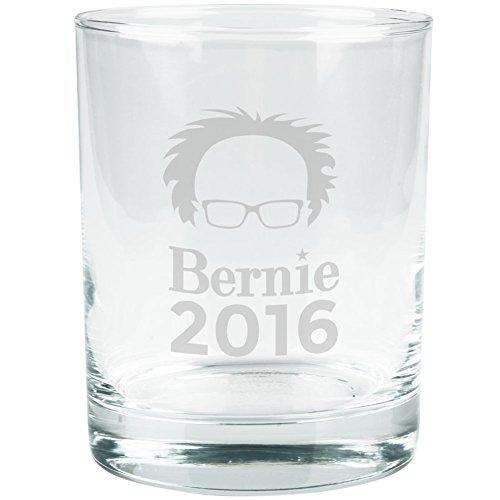 Election 2016 Bernie Sanders Hair Minimalist Etched Glass Tumbler