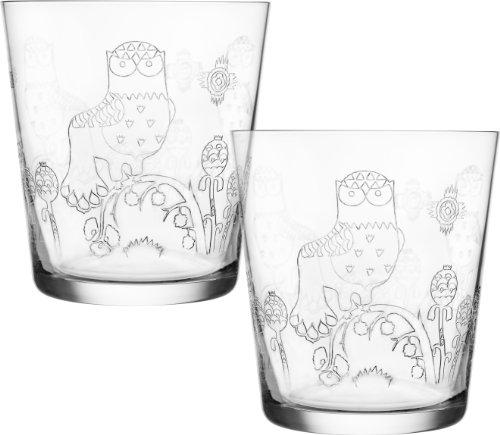 Iittala Taika Etched Glass Tumblers Set of 2