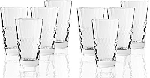 Circleware 45048 Rialto Heavy Base Highball Drinking Glasses Home Kitchen Tumbler Entertainment for Water Juice Milk Beer Whiskey Vodka Farmhouse Decor 138 oz Rialto Hiball - 8 pc