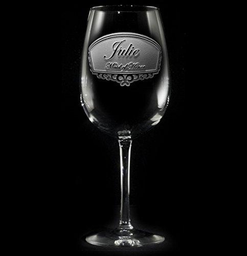 Engraved Bridesmaid Wine Glass Gift Ideas Single Wine Glass