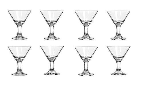 DCI Mini Martini Shot Glasses 8 pack