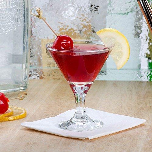 Set of 6 Libbey 3701 Embassy 3 oz Mini Martini Glass wSignature Cocktail Picks