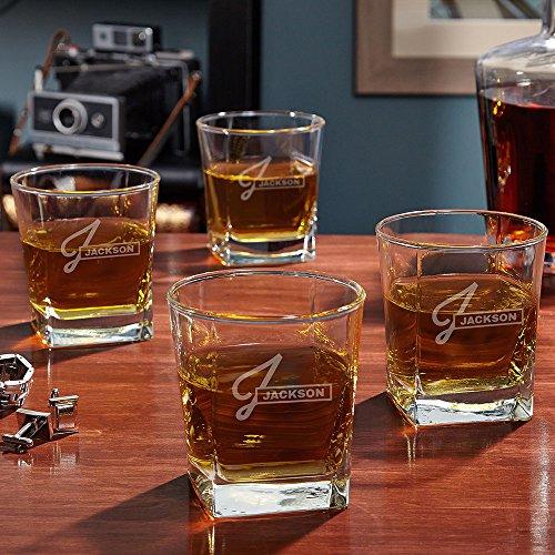 Beckett Personalized Rocks Glasses Set of 4 Custom Product