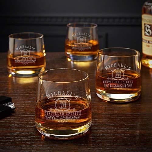 Carraway Benson Personalized Rocks Glasses Set of 4 Custom Product