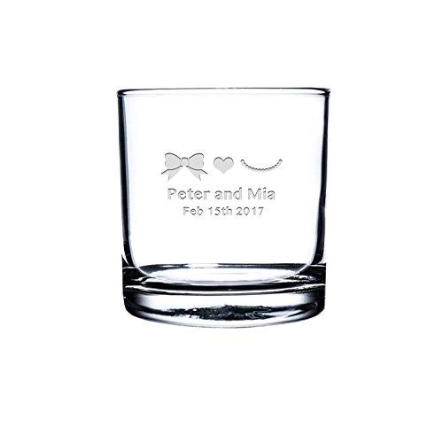 Etched Scotch GlassPersonalized Rocks Glass Custom Whiskey Glass Engraved Bourbon Glass His and her engraved scotch Glasses Customized Snifter Glass