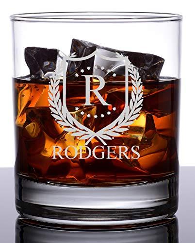Personalized Rocks Glass - Whiskey Glass  Groomsmen or Groomsman Gift - ShieldStar